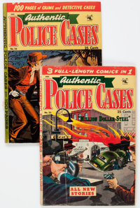 Authentic Police Cases #26 and 28 Group (St. John, 1953) Condition: Average GD/VG.... (Total: 2 Comic Books)