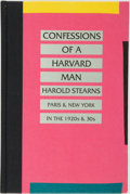 Books:Biography & Memoir, Harold Stearns. The Confessions of a Harvard Man. SuttonWest: The Paget Press, [1984]....