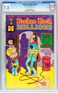 Bronze Age (1970-1979):Cartoon Character, Richie Rich Millions #68 File Copy (Harvey, 1974) CGC VF- 7.5Off-white to white pages....