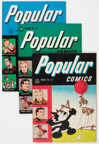 Popular Comics #105 and 118-121 Group (Dell, 1944-46) Condition: Average VF.... (Total: 5 Comic Books)