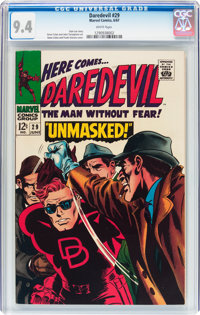 Daredevil #29 (Marvel, 1967) CGC NM 9.4 White pages