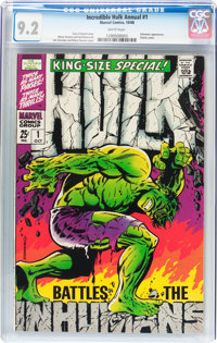 The Incredible Hulk Annual #1 (Marvel, 1968) CGC NM- 9.2 White pages
