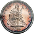Proof Seated Quarters, 1860 25C PR65 PCGS. Briggs 9-H....