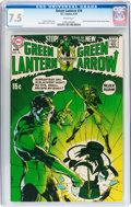 Bronze Age (1970-1979):Superhero, Green Lantern #76 (DC, 1970) CGC VF- 7.5 White pages....