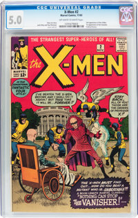 X-Men #2 (Marvel, 1963) CGC VG/FN 5.0 Off-white to white pages