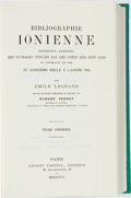 Books:Reference & Bibliography, Emile Legrand. Bibliographie Ionienne Description Raisonnee desOuvrages Publies par les Grecs des Sept-Iles our Concern...