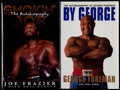 Boxing Collectibles:Autographs, George Foreman and Joe Frazier Signed Hardcover Books (2). ...