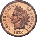 Proof Indian Cents, 1878 1C Cent PR65 ★ Red Cameo NGC....