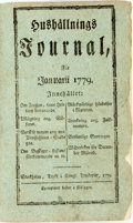 Books:Periodicals, [Bound Periodical]. Bound Edition of Hushållnings Journalfor 1779. January - December. Stockholm: ...