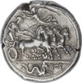 Ancients:Greek, Ancients: SICILY. Panormus (Sys or Ziz). Ca. 405-380 BC. ARtetradrachm (27mm, 17.53 gm, 12h)....