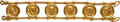 Ancients:Roman Imperial, Ancients: ROMAN EMPIRE and 19th CENTURY ITALY: Gold Bracelet Set with Six Roman Aurei of the 1st-2nd Centuries AD....