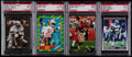 Football Cards:Lots, 1986-92 Football PSA Graded Jerry Rice and Emmitt Smith Group (4) with Rookies....
