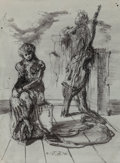 Fine Art - Work on Paper:Drawing, Eugene Berman (Russian/American, 1899-1972). Untitled, 1943.Ink and wash on paper. 12-3/4 x 9-5/8 inches (32.4 x 24.4 c...