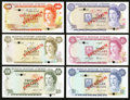 World Currency: , Bermuda Monetary Authority $1; $5; $10; $20; $50; $100 1978-84 Pick CS1 Specimens. ... (Total: 6 notes)
