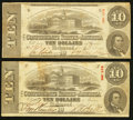 Confederate Notes:1863 Issues, T59 $10 1863 PF-12 Cr. 440 (2). ... (Total: 2 notes)