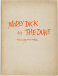 Books:Art & Architecture, [Cartoons]. Denys Wortman. INSCRIBED. Mopey Dick and the Duke; Their Life and Times. New York: Fairchild Publica...