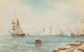 Fine Art - Painting, European:Antique  (Pre 1900), British School (19th Century). Sailing Away (three works).Watercolor on paper, each. 3-1/4 x 5-1/4 inches (8.3 x 13.3 c...(Total: 3 Items)
