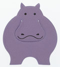 "Luxury Accessories:Accessories, Hermes Lilac Chevre Leather Pikabook Hippo Bookmark. ExcellentCondition. 2.5"" Width x 3"" Height . ..."