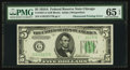 Error Notes:Obstruction Errors, Fr. 1957-G $5 1934A Federal Reserve Note. PMG Gem Uncirculated 65EPQ.. ...