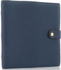 "Luxury Accessories:Accessories, Hermes Blue de Prusse Buffalo Leather Carnet Voyage Notebook .Excellent Condition. 6"" Width x 6"" Height. ...(Total: 4 Items)"