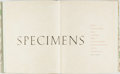 Books:Reference & Bibliography, [Stevens-Nelson Paper Corp.]. Specimens: A Stevens-Nelson PaperCatalogue. New York: Stevens-Nelson Paper Corp.,...