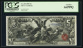 Large Size:Silver Certificates, Fr. 269 $5 1896 Silver Certificate PCGS Gem New 66PPQ.. ...