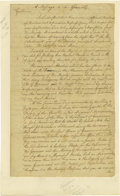 """Autographs:Statesmen, William Franklin Autograph Document Signed As Colonial Governor of New Jersey """"Wm: Franklin"""". Two pages, 7.5"""" x 12.5"""", N..."""