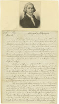 "Miscellaneous:Ephemera, Charles Pettit Autograph Letter Signed ""Chas. Pettit"". Twopages, 7.75"" x 10"", New York, December 27, 1785, written from..."