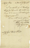 "Military & Patriotic:Revolutionary War, General Ebenezer Huntington Letter to Major General Noah Phelps.One page, 7.5"" x 12"", Norwich, July 2, 1798, to Major Gener..."