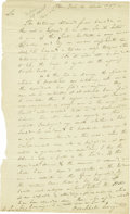 "Autographs:Statesmen, Henry Brockholst Livingston Autograph Letter Signed ""BrockholstLivingston"". One page, 7.5"" x 12.25"", New York, April 14..."
