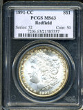 Additional Certified Coins: , 1891-CC $1 Morgan Dollar MS65 Paramount (MS61). Ex: ...
