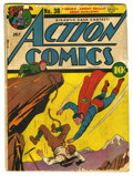 Golden Age (1938-1955):Superhero, Action Comics #38 (DC, 1941) Condition: FR. Fred Ray cover. Ray, Leo Novak, George Papp, Bernard Baily, Stan Kaye, Joseph Su...
