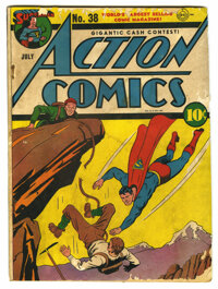 Action Comics #38 (DC, 1941) Condition: FR. Fred Ray cover. Ray, Leo Novak, George Papp, Bernard Baily, Stan Kaye, Josep...