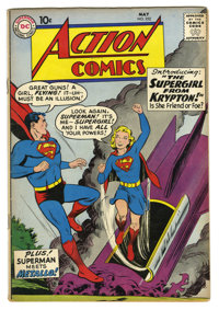 Action Comics #252 (DC, 1959) Condition: VG+. Origin and first appearance of Supergirl and Metallo. Curt Swan cover. Al...