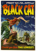 Golden Age (1938-1955):Horror, Black Cat Mystery #48 (Harvey, 1954) Condition: VF-. Lee Eliascover art. Howard Nostrand art. There is a three-quarter spin...