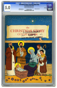 Christmas Story Cut-Out Book #nn File Copy (Catechetical Guild, 1951) CGC VG/FN 5.0 Cream to off-white pages. Daniel Noo...