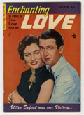 Golden Age (1938-1955):Romance, Enchanting Love #3 (Kirby Publishing, 1950) Condition: VG/FN. Jimmy Stewart photo cover. Overstreet 2006 VG 4.0 value = $18;...