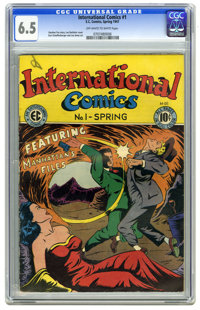 International Comics #1 (EC, 1947) CGC FN+ 6.5 Off-white to white pages. Lee Bachelor cover. Kurt Schaffenberger interio...