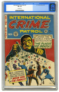 International Crime Patrol #6 (EC, 1948) CGC FN+ 6.5 Off-white pages. The only issue with this title. Lee Bachelor cover...