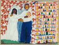Fine Art - Work on Paper:Drawing, Sister Gertrude Morgan (American, 1900-1980). New JerusalemCourts and The Marriage (two works). Mixed media onpape... (Total: 2 Items)