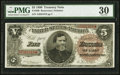 Large Size:Treasury Notes, Fr. 360 $5 1890 Treasury Note PMG Very Fine 30.. ...