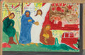 Fine Art - Work on Paper:Drawing, Sister Gertrude Morgan (American, 1900-1980). Bible storyillustrations (four works), 1956. Mixed media on paper, each.... (Total: 4 Items)