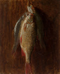 Paintings, Thaddeus Welch (American, 1844-1919). Hanging Fish, 1877. Oil on board. 12 x 10 inches (30.5 x 25.4 cm). Signed, dated, ...