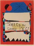 Fine Art - Work on Paper:Print, Joan Miró (Spanish, 1893-1983). Terres de Grand Feu, 1956.Lithograph in colors on Arches paper. 26-3/4 x 20 inches (67....