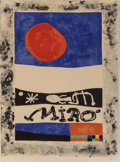Fine Art - Work on Paper:Print, Joan Miró (Spanish, 1893-1983). L'Exposition d'oevresrécentes, 1953. Lithograph in colors on Arches paper. 27 x20-1/4 ...
