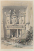 Prints, Louis Haghe (British, 1806-1885) after David Roberts . Karnac, Medinet Abou, Thebes, Kom Embo, and Petra (four works... (Total: 4 Items)