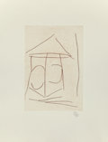 Fine Art - Work on Paper:Print, Robert Motherwell (American, 1915-1991). Mulligan's Tower,1983. Etching on wove paper. 9-3/4 x 6-3/4 inches (24.8 x 17....