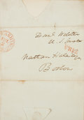 Autographs:Statesmen, Statesman Daniel Webster Cover with Franking Signature....