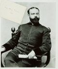 Autographs:Celebrities, Composer John Philip Sousa Signed Card....