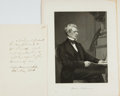 Autographs:Statesmen, Secretary of State William H. Seward Autograph Note Signed....
